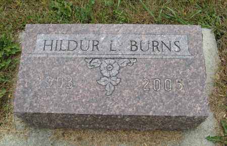 BURNS, HILDUR L. - Knox County, Nebraska | HILDUR L. BURNS - Nebraska Gravestone Photos