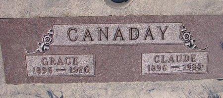 STAHL CANADAY, GRACE - Knox County, Nebraska | GRACE STAHL CANADAY - Nebraska Gravestone Photos