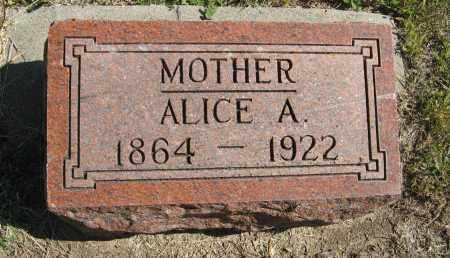 CARLSON, ALICE A. - Knox County, Nebraska | ALICE A. CARLSON - Nebraska Gravestone Photos