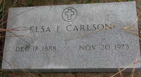 CARLSON, ELSA F. - Knox County, Nebraska | ELSA F. CARLSON - Nebraska Gravestone Photos