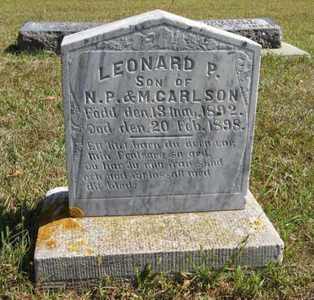 CARLSON, LEONARD P. - Knox County, Nebraska | LEONARD P. CARLSON - Nebraska Gravestone Photos