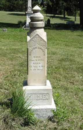 CHICKEN, WILLIAM - Knox County, Nebraska   WILLIAM CHICKEN - Nebraska Gravestone Photos