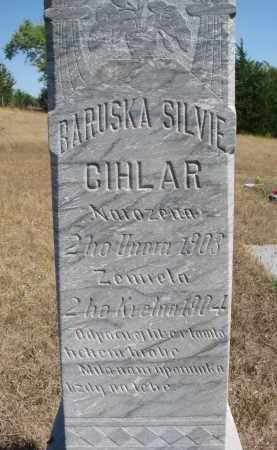 CIHLAR, BARUSKA SILVIE (CLOSEUP) - Knox County, Nebraska | BARUSKA SILVIE (CLOSEUP) CIHLAR - Nebraska Gravestone Photos