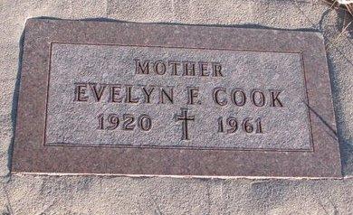 COOK, EVELYN F. - Knox County, Nebraska | EVELYN F. COOK - Nebraska Gravestone Photos