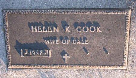 COOK, HELEN K. - Knox County, Nebraska   HELEN K. COOK - Nebraska Gravestone Photos
