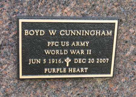 CUNNINGHAM, BOYD W. (MILITARY MARKER) - Knox County, Nebraska | BOYD W. (MILITARY MARKER) CUNNINGHAM - Nebraska Gravestone Photos