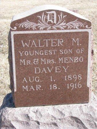 DAVEY, WALTER M. - Knox County, Nebraska | WALTER M. DAVEY - Nebraska Gravestone Photos