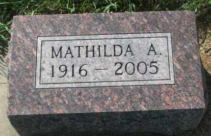 DIBBERT, MATHILDA A. - Knox County, Nebraska | MATHILDA A. DIBBERT - Nebraska Gravestone Photos