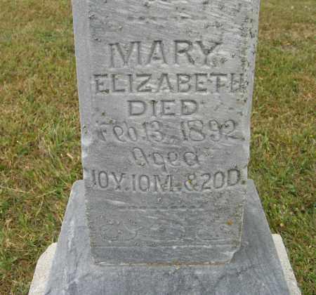 DINGER, MARY ELIZABETH (CLOSE UP) - Knox County, Nebraska   MARY ELIZABETH (CLOSE UP) DINGER - Nebraska Gravestone Photos