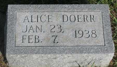 DOERR, ALICE - Knox County, Nebraska   ALICE DOERR - Nebraska Gravestone Photos