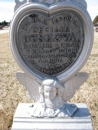 DUSKOVA, CECILIE (CLOSE UP) - Knox County, Nebraska | CECILIE (CLOSE UP) DUSKOVA - Nebraska Gravestone Photos