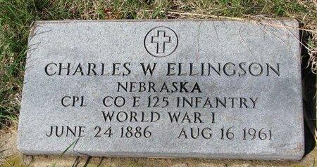 ELLINGSON, CHARLES W. (MILITARY) - Knox County, Nebraska | CHARLES W. (MILITARY) ELLINGSON - Nebraska Gravestone Photos