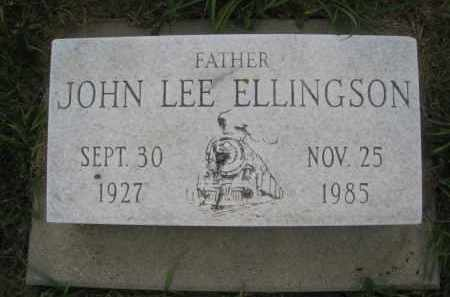 ELLINGSON, JOHN LEE - Knox County, Nebraska | JOHN LEE ELLINGSON - Nebraska Gravestone Photos
