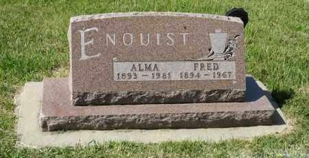 ENQUIST, FRED - Knox County, Nebraska | FRED ENQUIST - Nebraska Gravestone Photos