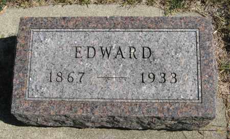 ERICKSON, EDWARD - Knox County, Nebraska | EDWARD ERICKSON - Nebraska Gravestone Photos