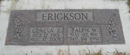 ERICKSON, GENEVA E. - Knox County, Nebraska   GENEVA E. ERICKSON - Nebraska Gravestone Photos