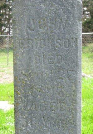 ERICKSON, JOHN (CLOSE UP) - Knox County, Nebraska | JOHN (CLOSE UP) ERICKSON - Nebraska Gravestone Photos