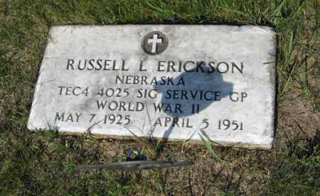 ERICKSON, RUSSELL L. - Knox County, Nebraska | RUSSELL L. ERICKSON - Nebraska Gravestone Photos