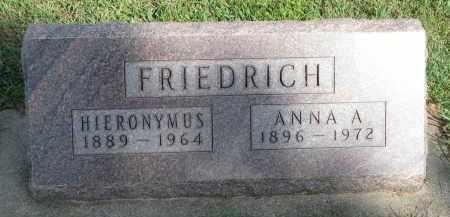FRIEDRICH, HIERONYMUS - Knox County, Nebraska | HIERONYMUS FRIEDRICH - Nebraska Gravestone Photos