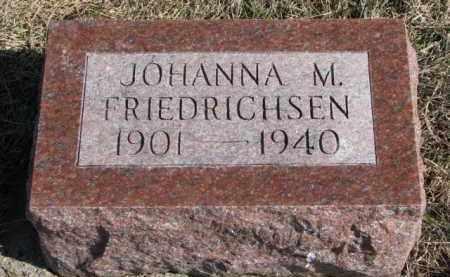 FRIEDRICHSEN, JOHANNA M. - Knox County, Nebraska   JOHANNA M. FRIEDRICHSEN - Nebraska Gravestone Photos