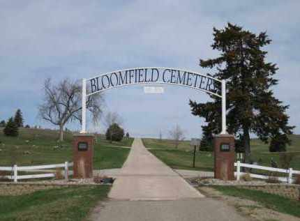 *BLOOMFIELD CEMETERY, GATE AT - Knox County, Nebraska | GATE AT *BLOOMFIELD CEMETERY - Nebraska Gravestone Photos