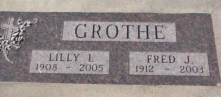 GROTHE, LILLY I. - Knox County, Nebraska | LILLY I. GROTHE - Nebraska Gravestone Photos