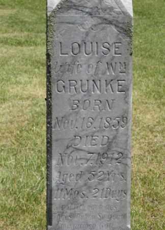 GRUNKE, LOUISE (CLOSEUP) - Knox County, Nebraska | LOUISE (CLOSEUP) GRUNKE - Nebraska Gravestone Photos