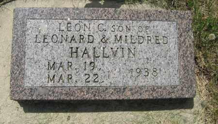 HALLVIN, LEON C. - Knox County, Nebraska | LEON C. HALLVIN - Nebraska Gravestone Photos