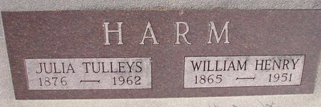 HARM, WILLIAM HENRY - Knox County, Nebraska | WILLIAM HENRY HARM - Nebraska Gravestone Photos