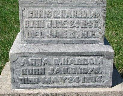 HARROM, CHRIS O. (CLOSE UP) - Knox County, Nebraska | CHRIS O. (CLOSE UP) HARROM - Nebraska Gravestone Photos