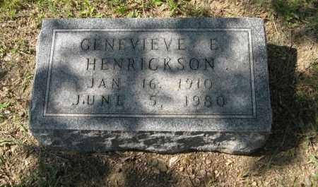 HENRICKSON, GENEVIEVE E. - Knox County, Nebraska   GENEVIEVE E. HENRICKSON - Nebraska Gravestone Photos