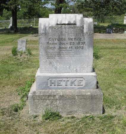 HETKE, GOTLIEB - Knox County, Nebraska | GOTLIEB HETKE - Nebraska Gravestone Photos