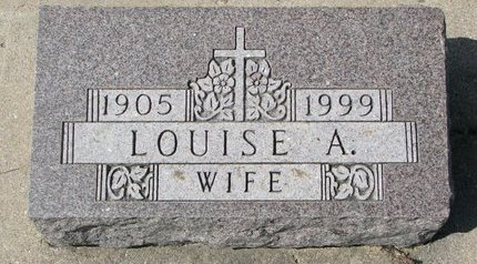 HOLAN, LOUISE A. (FOOTSTONE) - Knox County, Nebraska   LOUISE A. (FOOTSTONE) HOLAN - Nebraska Gravestone Photos