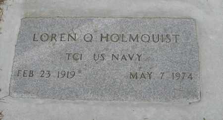 HOLMQUIST, LOREN Q. (MILITARY MARKER) - Knox County, Nebraska | LOREN Q. (MILITARY MARKER) HOLMQUIST - Nebraska Gravestone Photos
