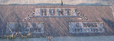 HUNT, FAYE R. - Knox County, Nebraska   FAYE R. HUNT - Nebraska Gravestone Photos