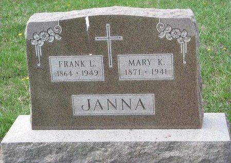 BICEK JANNA, MARY K. - Knox County, Nebraska   MARY K. BICEK JANNA - Nebraska Gravestone Photos