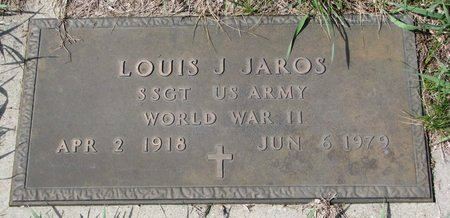 JAROS, LOUIS J. (MILITARY) - Knox County, Nebraska   LOUIS J. (MILITARY) JAROS - Nebraska Gravestone Photos