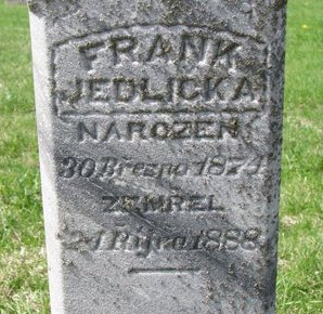 JEDLICKA, FRANK (CLOSE UP) - Knox County, Nebraska   FRANK (CLOSE UP) JEDLICKA - Nebraska Gravestone Photos