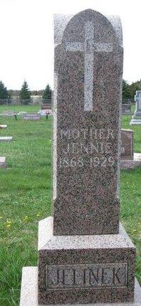 JELINEK, JENNIE #1 - Knox County, Nebraska   JENNIE #1 JELINEK - Nebraska Gravestone Photos