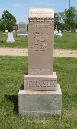 JOHNSON, ANDREW J. - Knox County, Nebraska | ANDREW J. JOHNSON - Nebraska Gravestone Photos