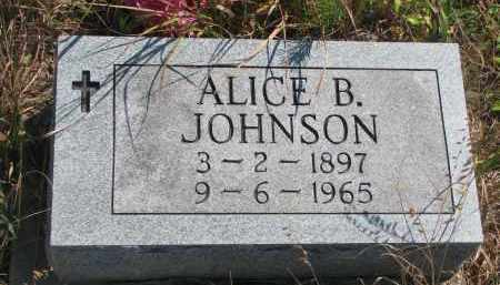 JOHNSON, ALICE B. - Knox County, Nebraska   ALICE B. JOHNSON - Nebraska Gravestone Photos