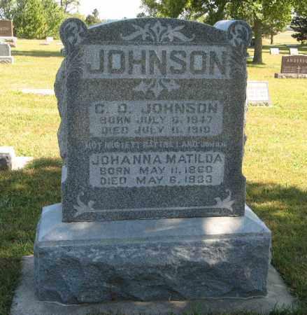 JOHNSON, JOHANNA MATILDA - Knox County, Nebraska | JOHANNA MATILDA JOHNSON - Nebraska Gravestone Photos