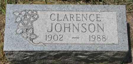 JOHNSON, CLARENCE - Knox County, Nebraska | CLARENCE JOHNSON - Nebraska Gravestone Photos