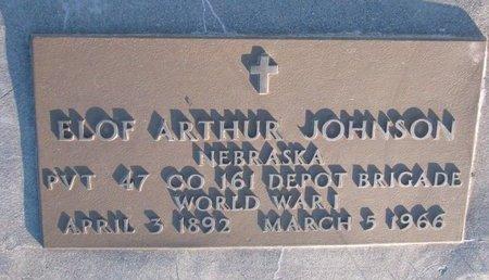 JOHNSON, ELOF ARTHUR - Knox County, Nebraska   ELOF ARTHUR JOHNSON - Nebraska Gravestone Photos