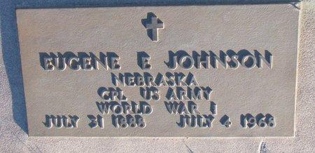 JOHNSON, EUGENE E. - Knox County, Nebraska   EUGENE E. JOHNSON - Nebraska Gravestone Photos