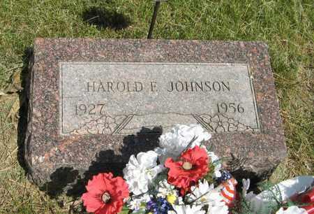 JOHNSON, HAROLD E. - Knox County, Nebraska | HAROLD E. JOHNSON - Nebraska Gravestone Photos