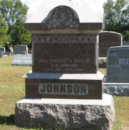 JOHNSON, INGA MARGRETA - Knox County, Nebraska   INGA MARGRETA JOHNSON - Nebraska Gravestone Photos