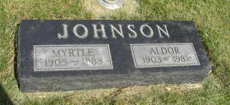 JOHNSON, MYRTLE - Knox County, Nebraska | MYRTLE JOHNSON - Nebraska Gravestone Photos