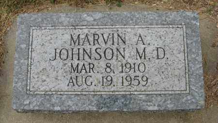 JOHNSON, MARVIN A. (M. D.) - Knox County, Nebraska | MARVIN A. (M. D.) JOHNSON - Nebraska Gravestone Photos
