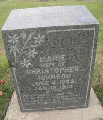 JOHNSON, MARIE - Knox County, Nebraska | MARIE JOHNSON - Nebraska Gravestone Photos